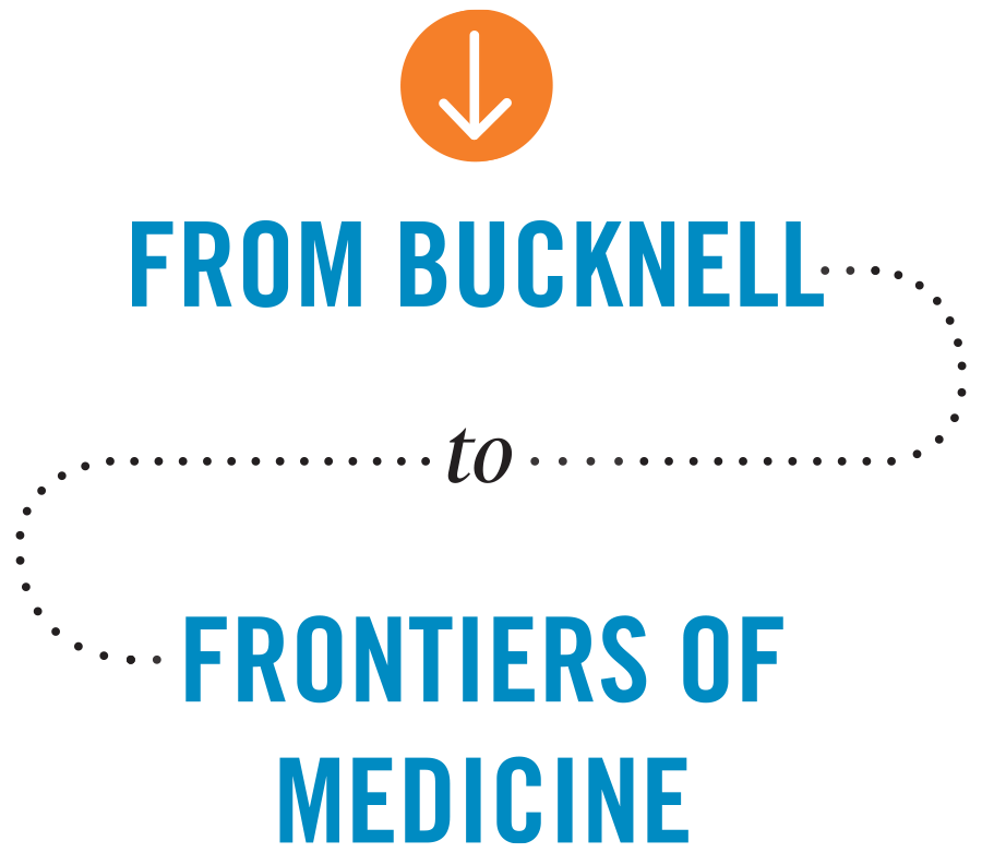 From Bucknell to Frontiers of Medicine typography